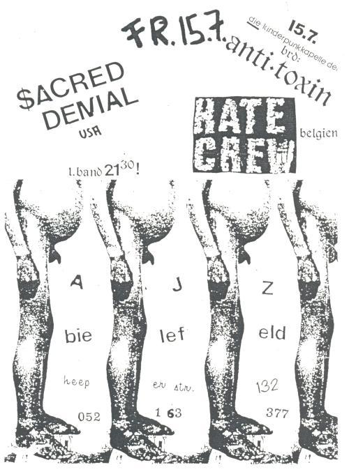 88-07-15 Hate Crew (Bielefeld)