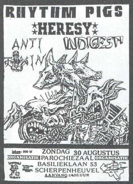 87-08-30 Rhythm Pigs - Indigesti - Heresy